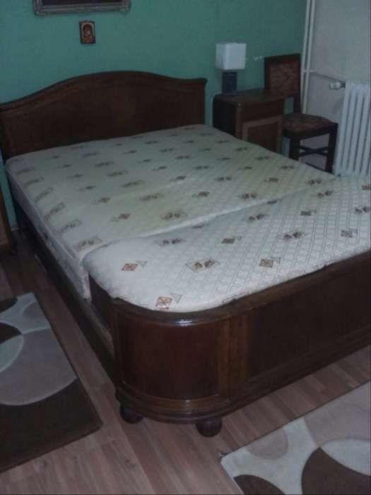 mobilier dormitor lemn masiv (pat, sifonier, noptiera, comoda)