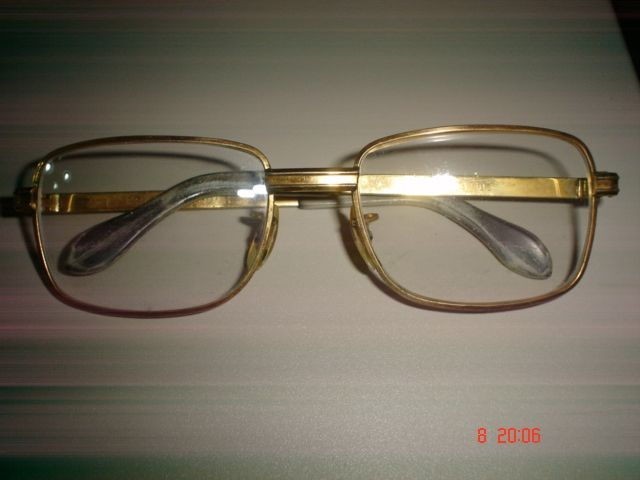 rame ochelari vintage aurii sau plastic Row, Cacharel