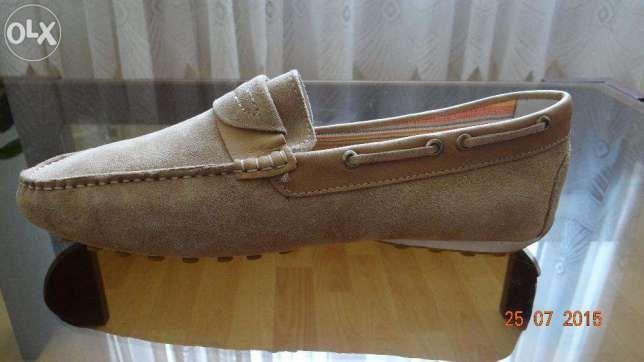 Vand pantofi barbatesti tip mocasini, piele, talpa ergonomica