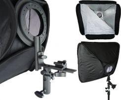 Softbox Neewer portabil cu patina universala 60cm x 60cm pt Blitz foto