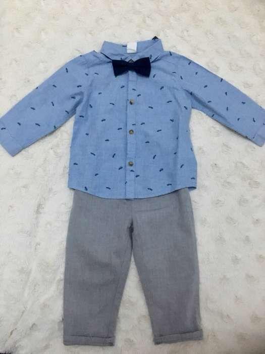 Costum H&m pt băieți 9-12 luni ,3 piese