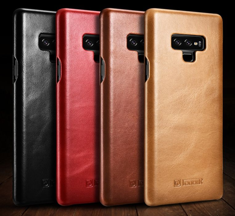Husa lux piele naturala vintage iCARER, SAMSUNG GALAXY NOTE 9, dif cul