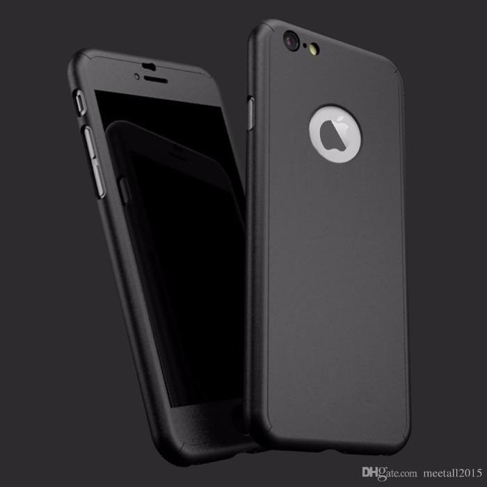 Husa 360 grade protectie fata-spate iPhone 6/6s+Folie de sticla gratis