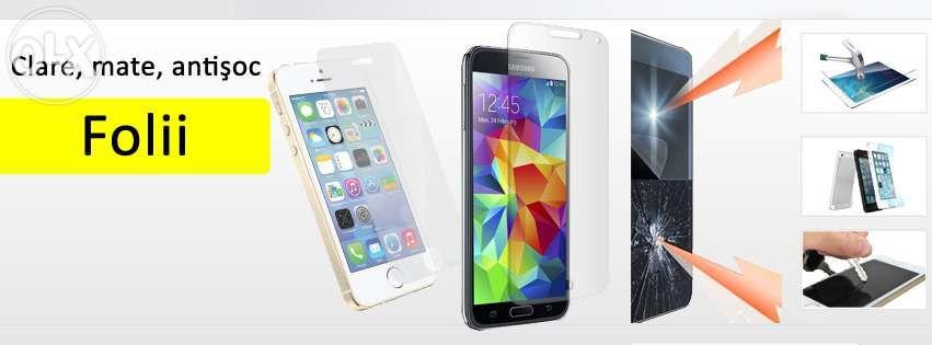 Folii, folie clara, mata, iPhone, Samsung, Nokia, LG, HTC, Huawei