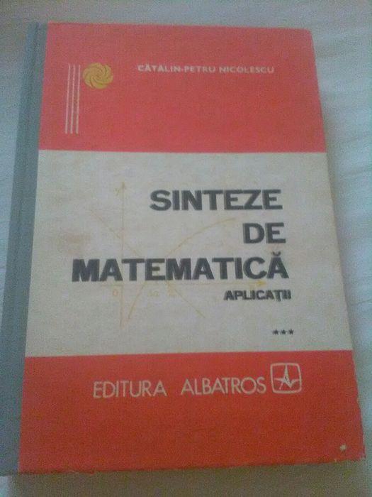 Sinteze de matematica aplicatii