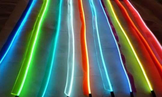 Promotie: fir neon electroluminiscent cu manseta (pt.auto)