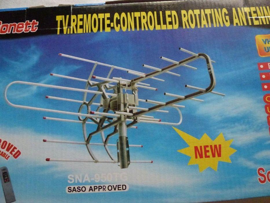 Antena rotativa TV cu telecomanda si amplificator,(yagi,dvbt)ramburs