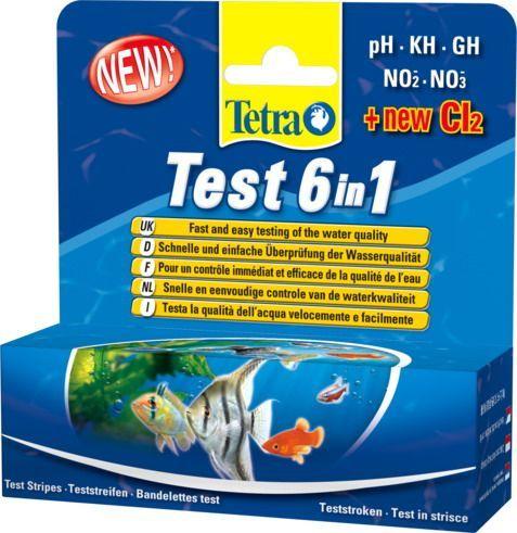 """Тест Tetra 6 в 1 GH/kH/NO2/NO3/pH/CL2 в """"Живом Уголке"""" в Таугуле"""