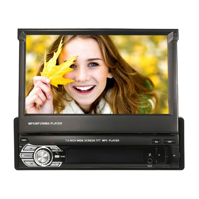 Navigatie dvd autoMp5 player 1 din Gps Harta Full EU, BT, ecran 7 inch