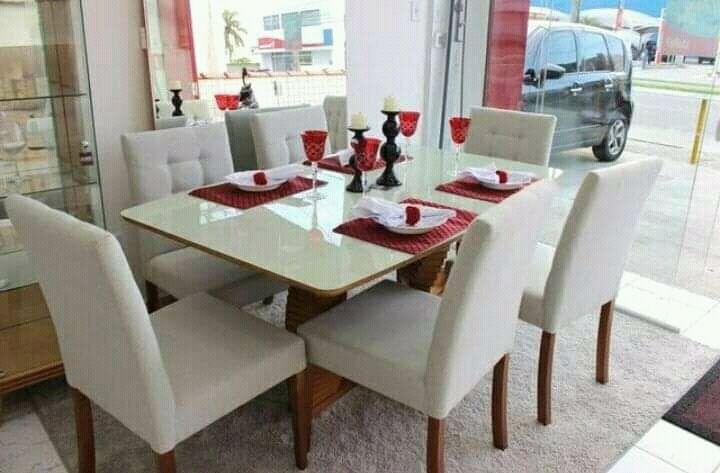 Mesa de jantar de 6 cadeira