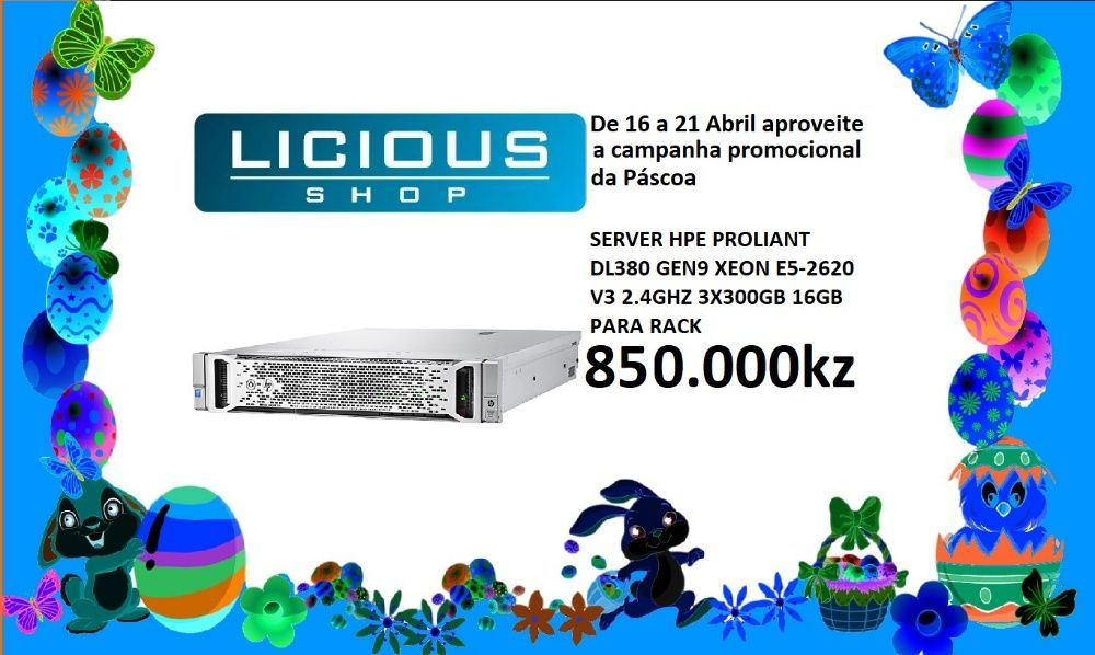 Servidor HP DL380 G9 E52620V3 16GB 3X300GB