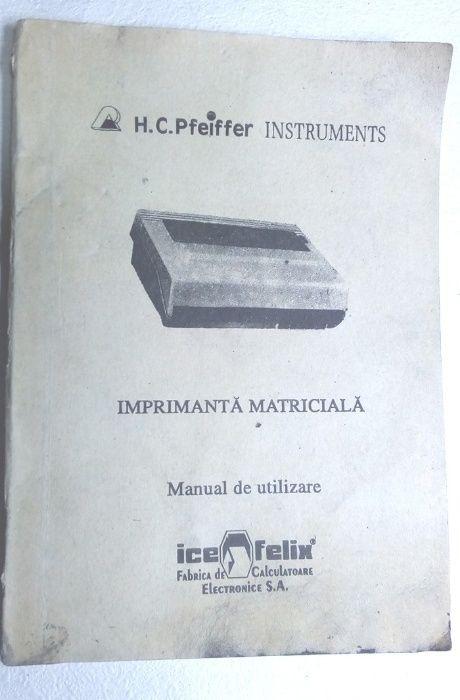 carte veche si rara pt imprimanta ICE FELIX calculator HC