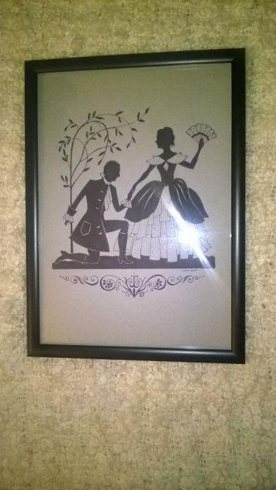 Mic tablou silhouette (Intalnire cu evantai)