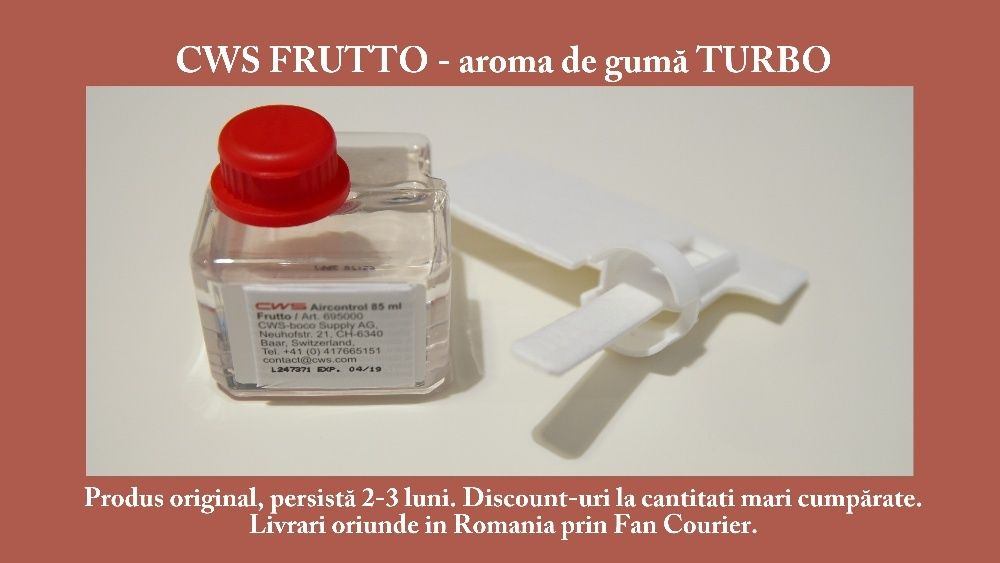 CWS FRUTTO - odorizant incaperi/auto - camera guma turbo