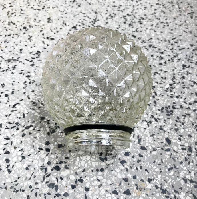 Плафон - кристално стъкло, резба