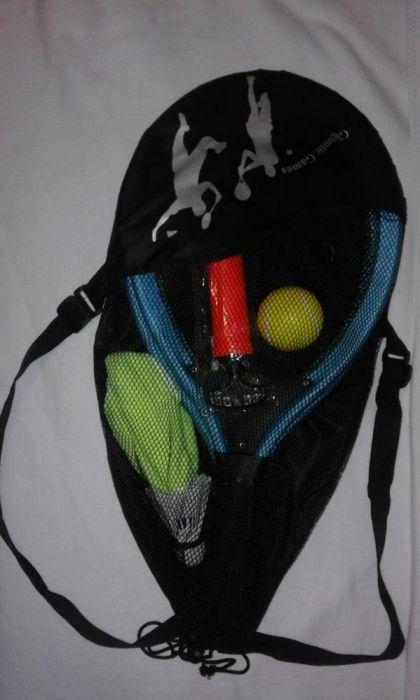 Set palete 3in1 NOU pentru tenis/ badminton plaja/ iarba verde, rucsac