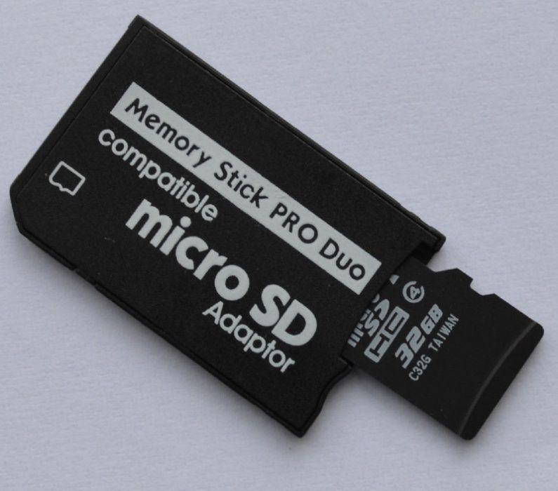 Адаптер для карт PSP ( Pro duo card adapter ) Micro SD на Memory Stick