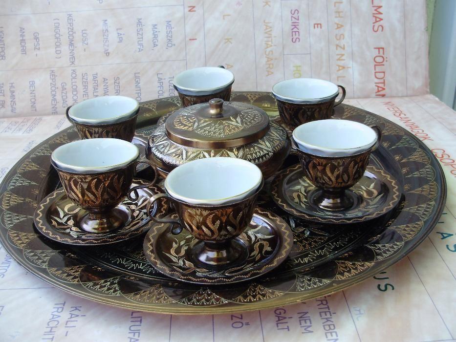 Serviciu vintage alama motive persane interior portelan