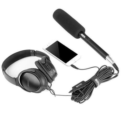BOYA BY-BCA6 cablu XLR jack pt. microfon si smartphone, reportaj, vlog