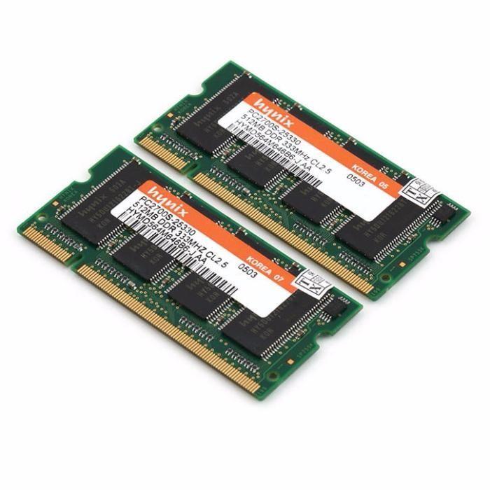 Memorii RAM Testate! 1GB DDR PC2700S 333MHz Kit (2x512Mb)