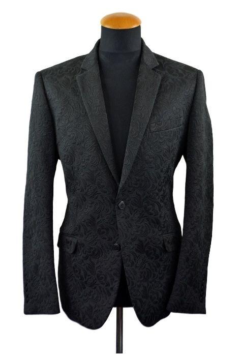 Sacou barbati H&M ceremonie elegant marimea 50 L bumbac negru B81