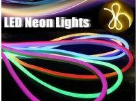 разный гибкий LED неон светящийся шнур-провод и свето-диодные ленты +