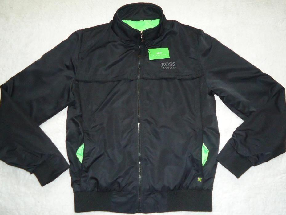 Geaca neagra barbati jacheta impermeabila antivant captuseala verde