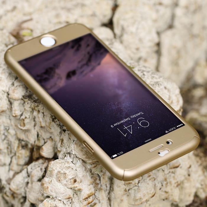 1ba054c34d4 Husa iPhone 6/6s PLUS GOLD 360 grade protectie fata-spate Bucuresti ...