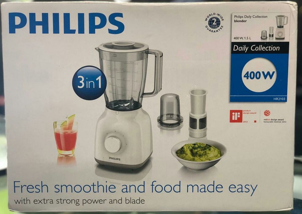 Liquidificador Philips smoothie fresco e comida facilitada