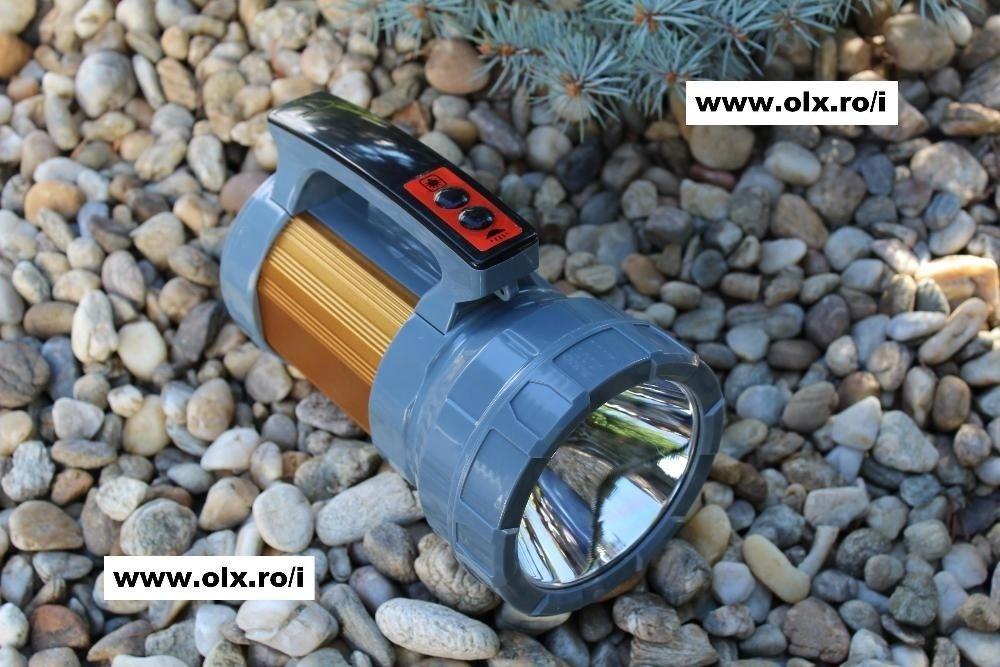 Lanterna Profesionala cu Led CREE T6-U2 Lampa SMD Bec Power Bank NOU
