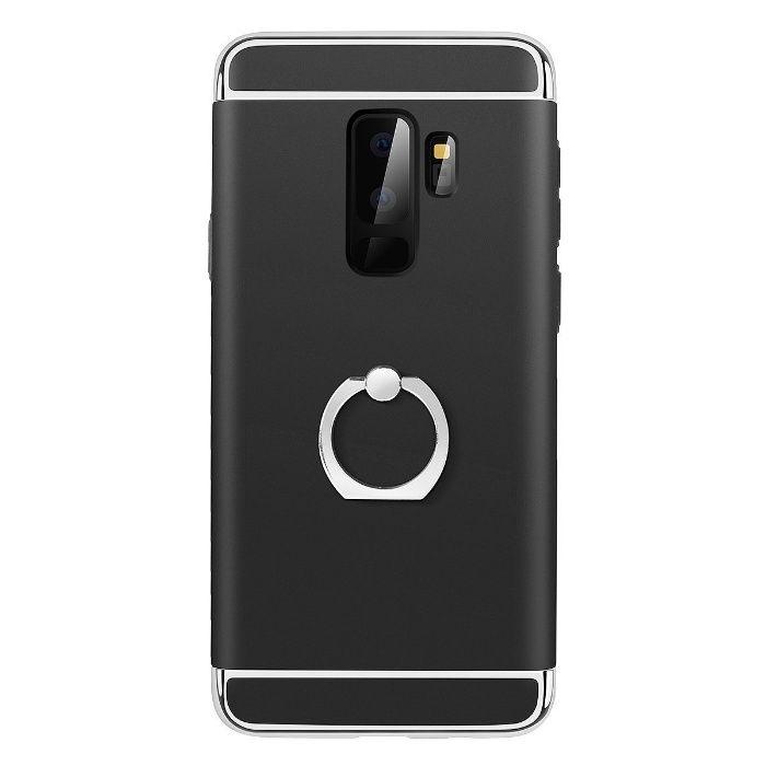 Husa Elegance Luxury 3in1 cu inel pentru Samsung S9 Plus Neagra