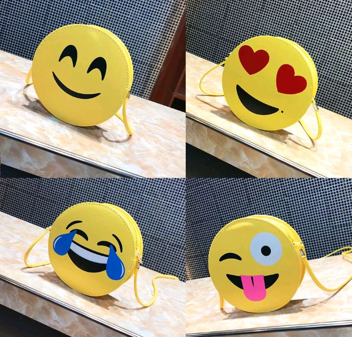 Bolsa emoji para meninas