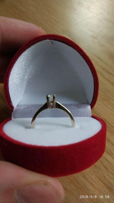 Vand inel din aur alb cu diamant