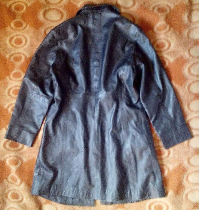 Дамско яке от черна мека естествена кожа /Дамско манто от мека естеств