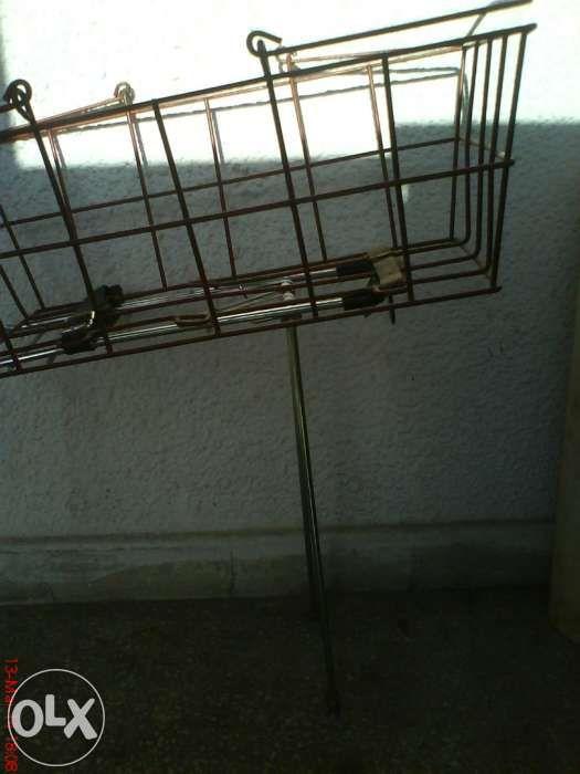 Portbagaj + cos metalic bicicleta