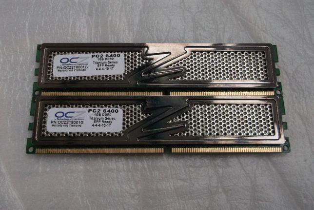 Memorie 1 Gb DDR2 OCZ-GOLD PC2 6400 800 mhz [2buc]