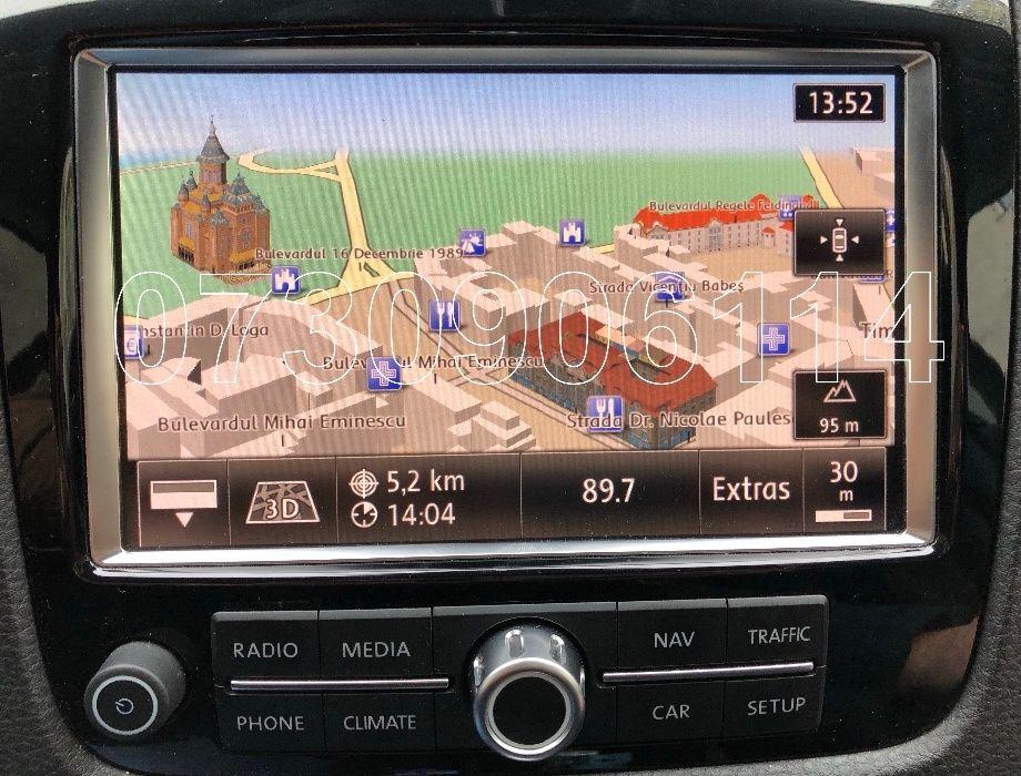 Harta navigatie VW TOUAREG RNS850 Audi MMI 3G Plus Romania 2018 6.26.1