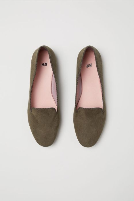 mocasini H&M, verde kaki inchis
