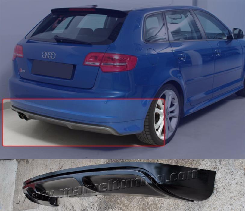 Спойлер (тунинг добавка) тип S3 за задна броня Audi A3 8P -5 врати