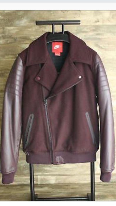 Nike Lebron James Moto jacket Destroyer Leather Wool Размер М