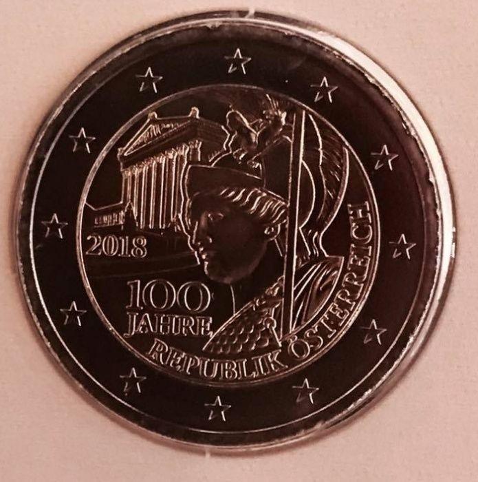 AUSTRIA moneda 2 euro comemorativa 2018, UNC