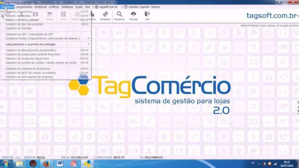 Sistema Comercial Tag Comercio 2.0