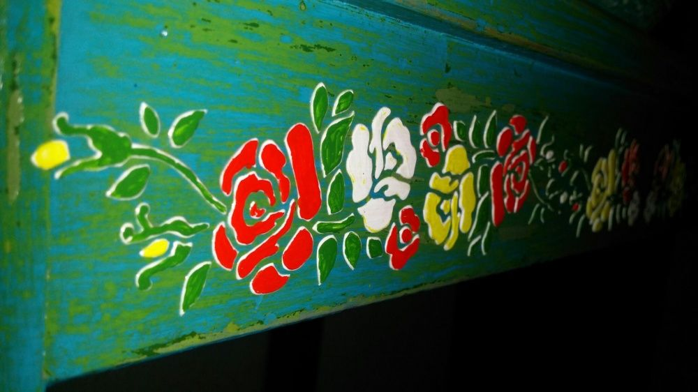 Spalator lemn reinterpretat decor 3D fara lavoar