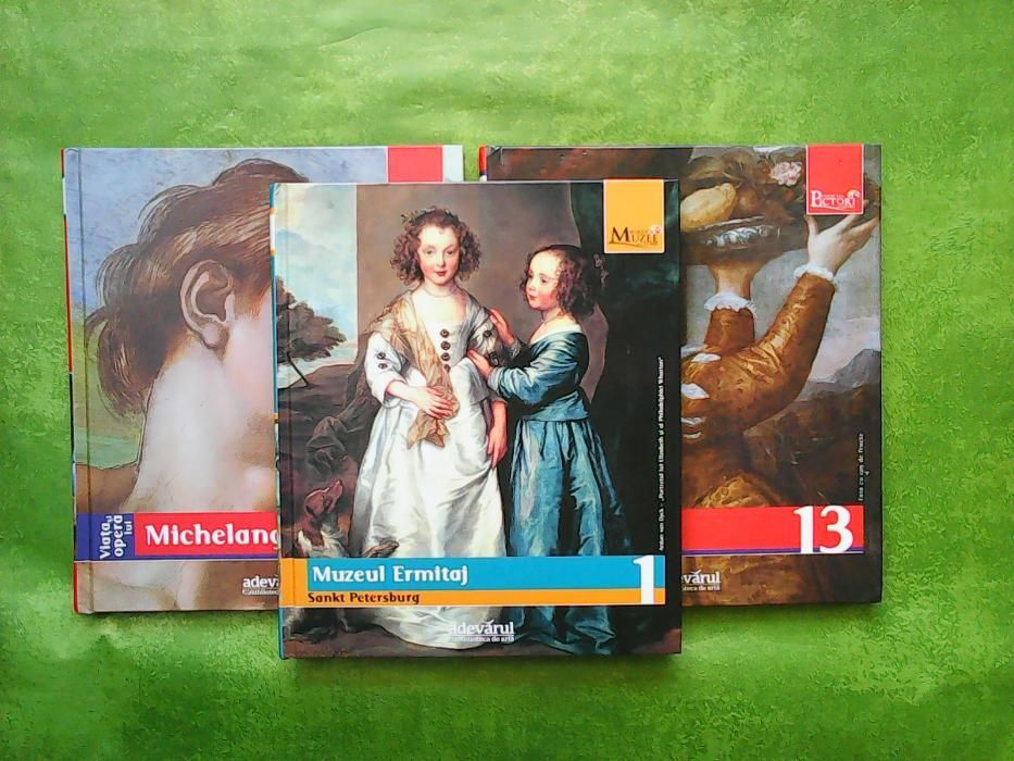 Albume de artă: Michelangelo, Tiziano, Muzeul Ermitaj + CADOU