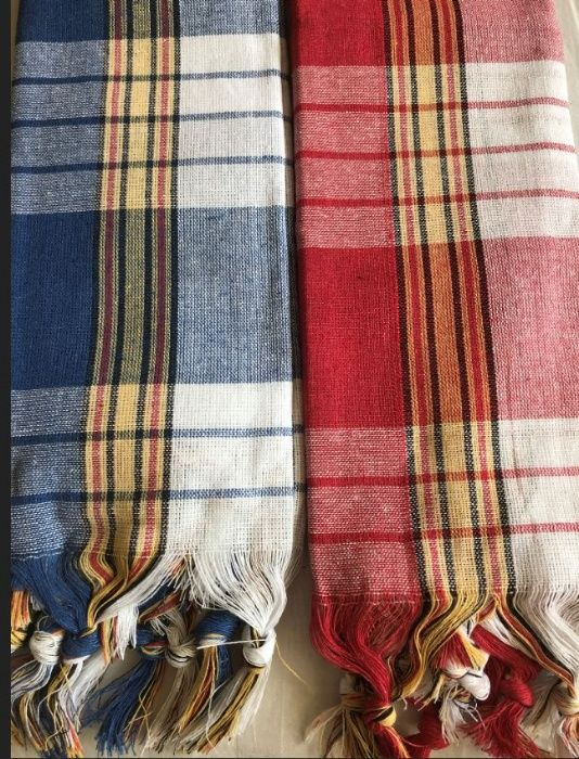 Пещемал (памучна кърпа) за турска баня (сауна, СПА) и пилинг ръкавица