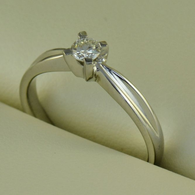 Inel de logodna din aur alb cu diamant (cod 591)