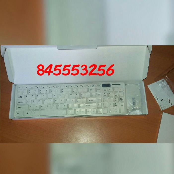 Kit de teclado e mouse wireless com protector de poeira Maputo - imagem 5