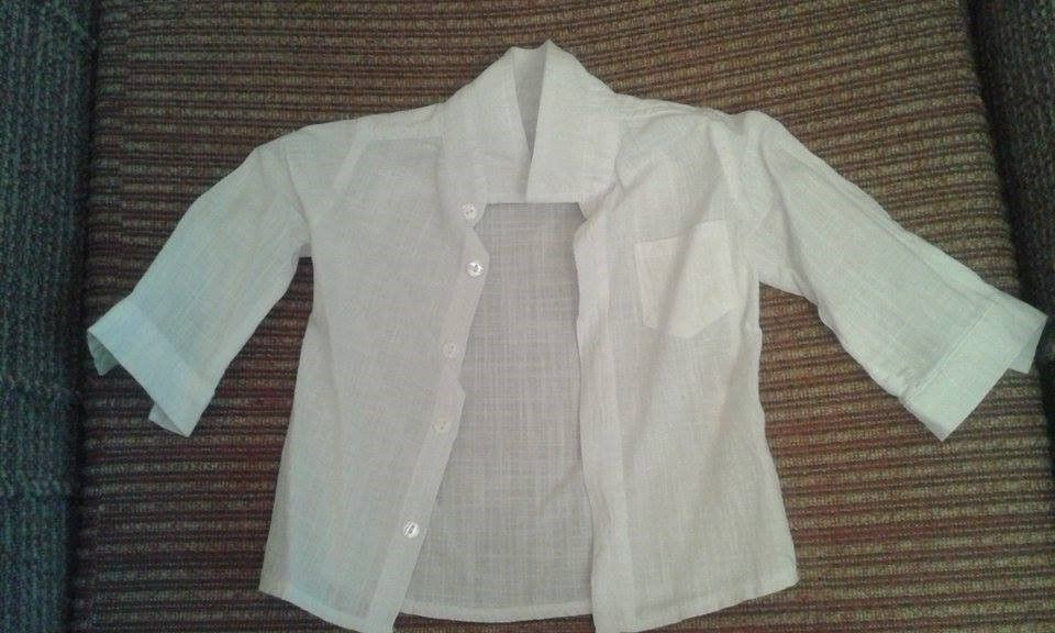 Дизайнерско сако и риза .Ползвани са само веднъж за кръщене.