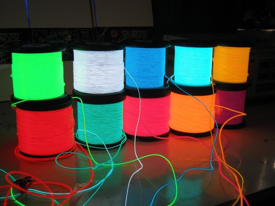Promotie Fir luminos neon flexibil EL Wire, diverse culori si modele