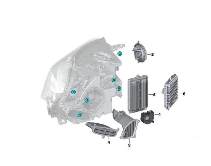 BMW X5 X6 / M F15 F16 F85 F86 Full LED Adaptive modul droser tms far